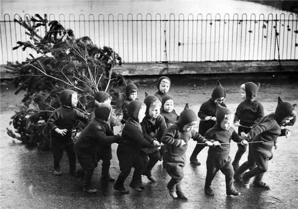 Những đứa trẻ tại mộtTrung tâm Bảo trợ Trẻ em mồ côi và vô gia cư tại London (Anh) đã cùng nhau biến mái nhà chungtrở thành một nơi ấm áp và hạnh phúc nhất vào dịp giáng sinhnăm 1938. (Ảnh:Gerry Cranham)