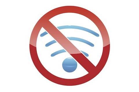 Sóng wifi không được phép hoạt động trên máy bay.