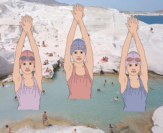 """""""Ô, đi tắm biển mà cũng được xem bơi nghệ thuật nữa à?"""""""