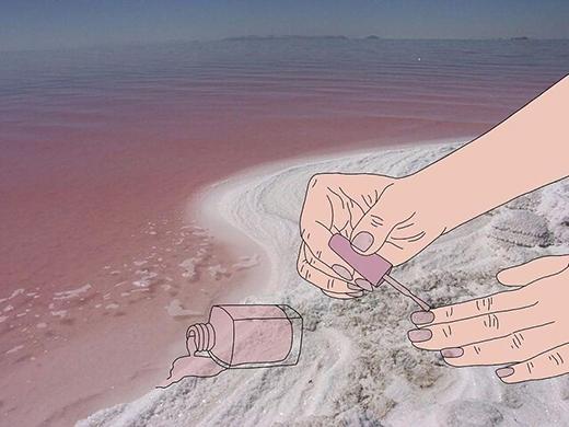 """""""A, thì ra đây là nước sơn móng tay""""."""