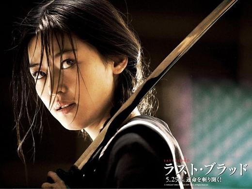 Hình ảnh đầy ma mị của Jeon Ji Hyun trong vai diễn Saya của phim Blood: The Last Vampire.
