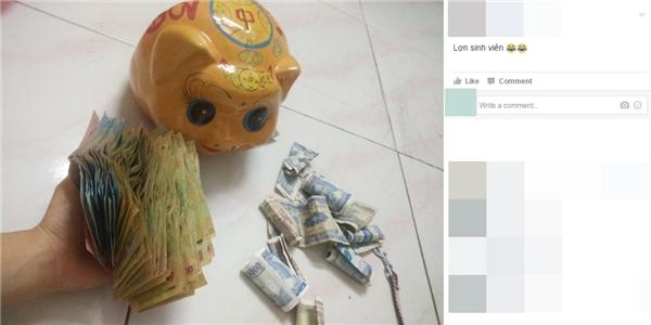 """Mùa """"đập heo đất"""", netizen Việt thi nhau hóa """"đại gia"""" tiền lẻ"""