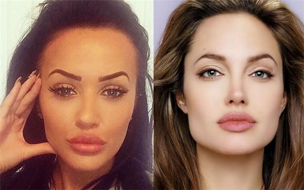 Cô nàng có đôi gò má khá giống với Jolie.