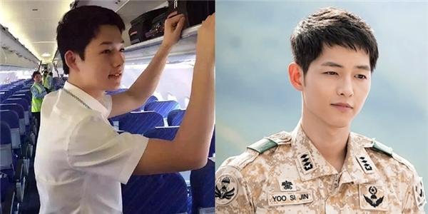 Chàng tiếp viên hàng không giống Song Joong Ki.