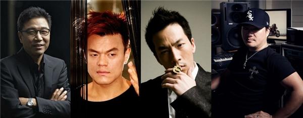 SM Lee Soo Man, JYP Park Jin Young, phù thủy Teddy nhà YG, máy tạo hit Yoo Young Jin sẽ cùng xuất hiện với vai trò producer.