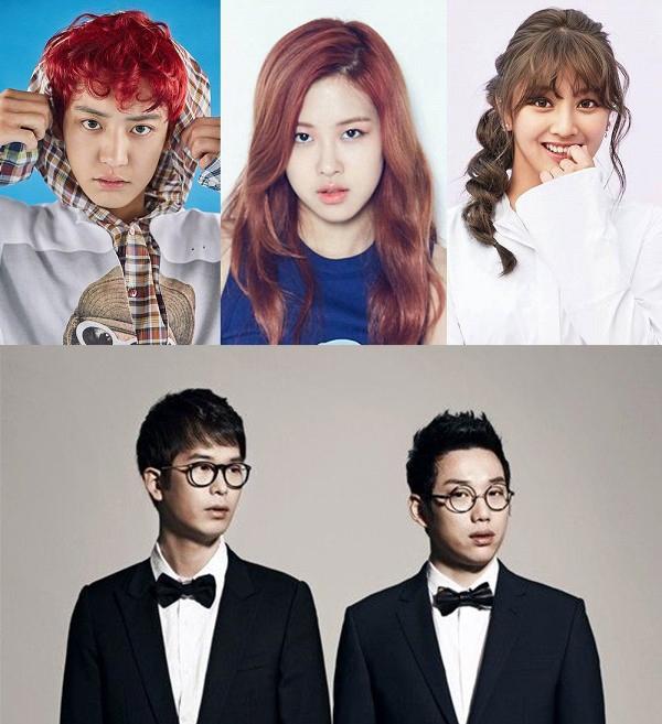 EXO Chanyeol, Black Pink Rosé và TWICE Jihyo sẽ xuất hiện cùng hai chàng trai 10cm trong một tiết mục acoustic.
