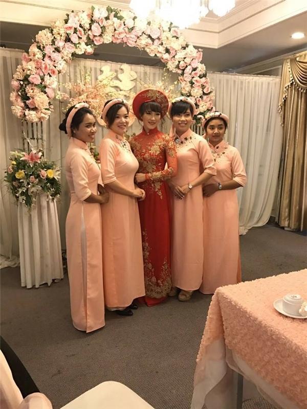 Không gian ngọt ngào và ngập tràn hạnh phúc tạilễ cưới Tiến Minh. (Ảnh: FBNV)
