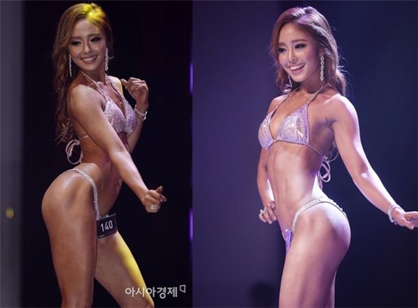 Choi Seol Hwa đang nắm giữ ngôi vịHoa hậu thể hình bikini Hàn Quốc năm 2016. (Ảnh: internet)