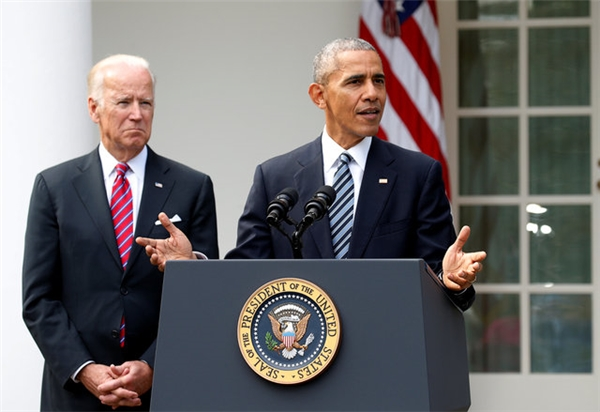 Hình ảnh quen thuộc của Tổng thống Obama.
