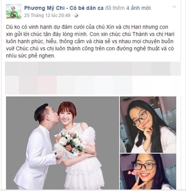 Phương Mỹ Chi không dự cưới Trấn Thành nhưng gửi lời chúc bất thường - Tin sao Viet - Tin tuc sao Viet - Scandal sao Viet - Tin tuc cua Sao - Tin cua Sao