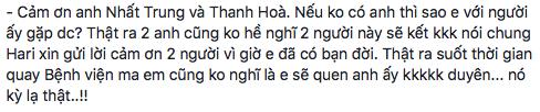 Hari Won gửi lời cảm ơn đến đạo diễnVõ Thanh Hoà- đạo diễn phim Bệnh viện ma - người đã giúp cô gặp và yêu Trấn Thành, để hôm nay cả hai nên duyên vợ chồng. - Tin sao Viet - Tin tuc sao Viet - Scandal sao Viet - Tin tuc cua Sao - Tin cua Sao