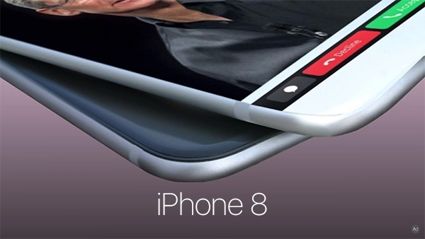 Hình ảnh trong clip về iPhone 8. (Ảnh: youtube)