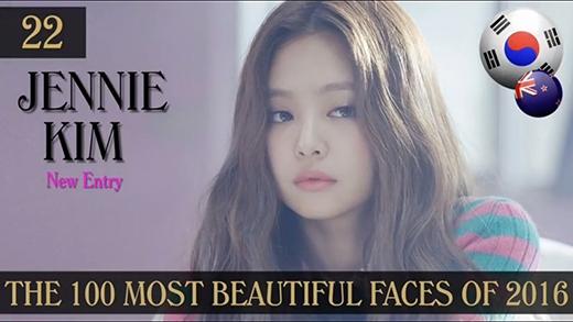 """""""Ma mới"""" Jennie Kim là thành viên của Black Pink, """"bông hoa"""" mới trong vườn hoa Kpop đang độ nở rộ góp mặt ở vị trí 22."""