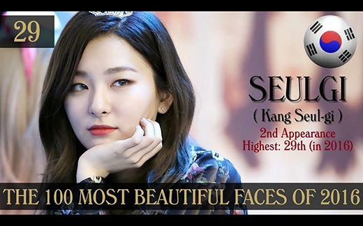 Mặt dù không được chú ý nhiều trong nước, Seul Gi lại là thành viên Red Velvet đạt thứ hạng cao nhất về nhan sắc năm nay.