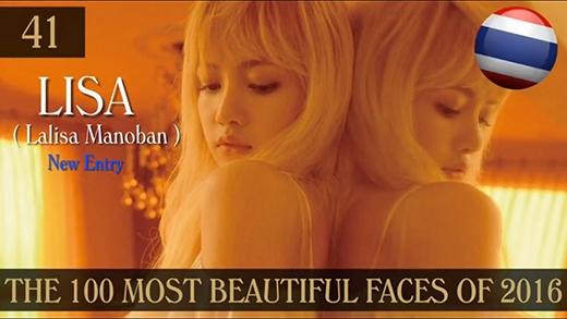 """""""Bônghồng lai"""" nước Thái, Lisa lần đầu tiên lọt vào bảng xếp hạng với vị trí 41."""