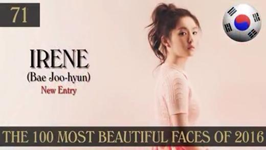 So với thành viên cùng nhóm Seul Gi, nhan sắcIrene được tung hô tại Hàn nhưng đây là lần đầu tiên cô lọt vào bảng xếp hạng này.