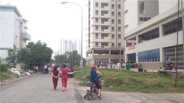 Khu vực xảy ra vụ việc ở chung cư Bình Khánh.(Ảnh: Internet)