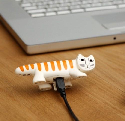 Một món đồ chơi hình chú mèo ư? Không phải đâu, đây là một chiếc máy ảnh có tênNecono Cat Digital được trang bị ống kính độ phân giải 3 MP và cảm biến chuyển động. (Ảnh: internet)