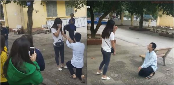 Nam sinh viên trường KTQD liều mạng đem... hoa tang đi cầu hôn bạn gái