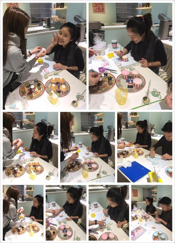 Lâm Tâm Như mới đi học làm bánh cách đây ít ngày.