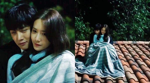 Được người yêu ôm từ đằng sau lại còn cùng đắp chăn ngắm sao trời lãng mạn, cảnh ôm ấm áp của Annavà Je Ha được xemlà cảnh khiến nhiều người ghen tị bậc nhất màn ảnh nhỏ Hàn Quốc 2016.