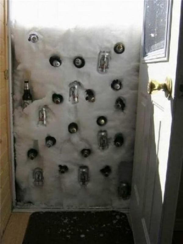 Đỡ phải tốn tiền sắm tủ lạnh.