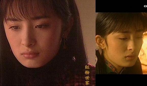 Năm 2003, Dương Mịch tham gia bộ phim truyền hính Hồng phấn thế gia với vai diễn Lý Tiểu Đào. Nữ diễn viên khi ấy vô cùng trẻ trung, đáng yêu.