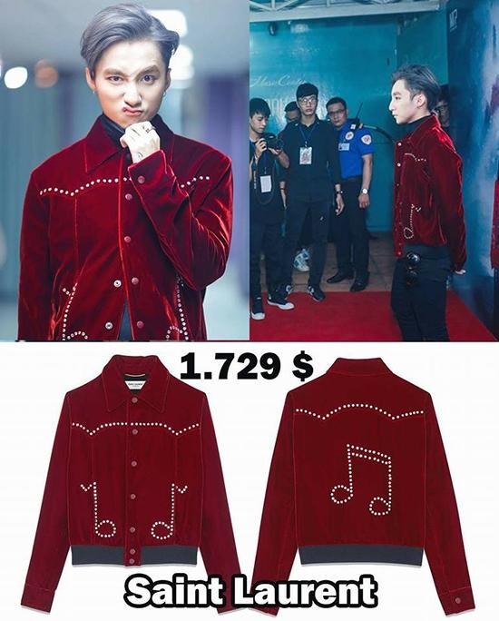 """Được biết, chiếc áo đến từ thương hiệu danh tiếngvới giá bán xấp xỉ 40 triệu đồng. Hầu như trong lần xuất hiện nào, Sơn Tùng cũng bị """"soi"""" chuyện ăn mặc giống các sao Hàn Quốc."""