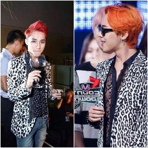 Chiếc áo da báo của Sơn Tùng cũng nhanh chóng bị phát hiện đã từng được G-Dragon diện.