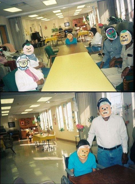 Halloween tạm bợ ở một viện dưỡng lão.