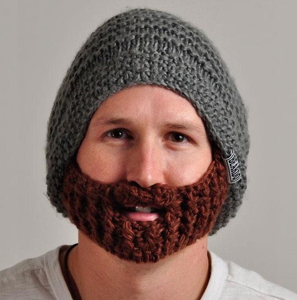 Nón len có râu - Ấm áp và quyến rũ.