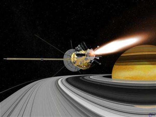 Tàu thăm dòvũ trụ Cassini rời Trái Đất năm 1997 và đến sao Thổ năm 2004.