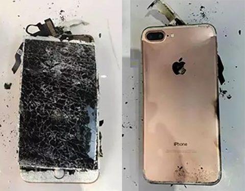 Một chiếc iPhone 7 phát nổ do quá nóng. (Ảnh: internet)