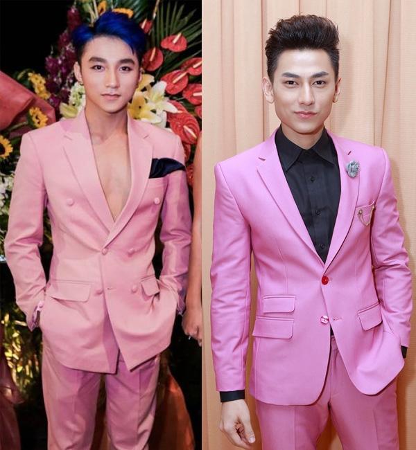 Cả hai cùng diện áo trắngcó dòng chữ đôi..   Không hẹn mà gặp cả hai từng diện vest hồng. - Tin sao Viet - Tin tuc sao Viet - Scandal sao Viet - Tin tuc cua Sao - Tin cua Sao