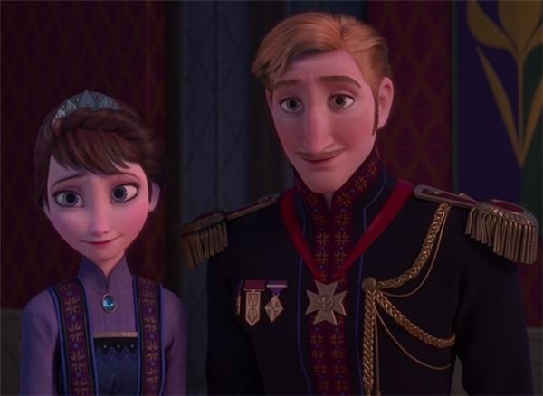 Quốc vương và nữ hoàng trong Frozen.