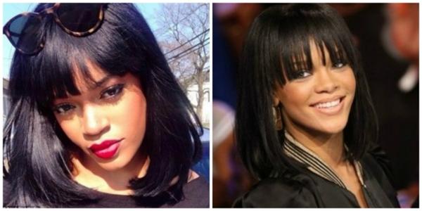 Rihanna chắc phải rất bất ngờ khi nhìn thấy bản sao có 1-0-2 của mình.