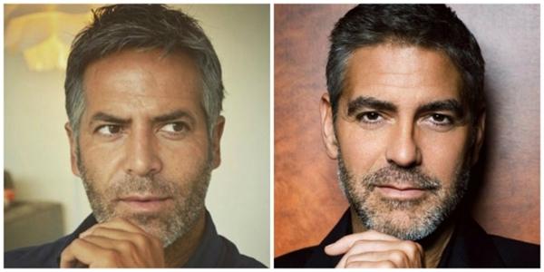 Mắt của bạn chắc phải tinh lắm mới biết ai làGeorge Clooney thật.