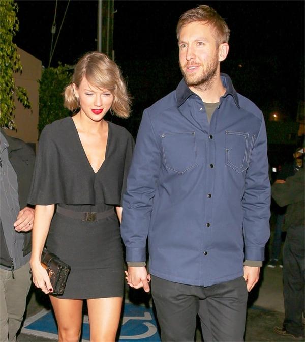 Taylor và Calvin thời còn mặn nồng.
