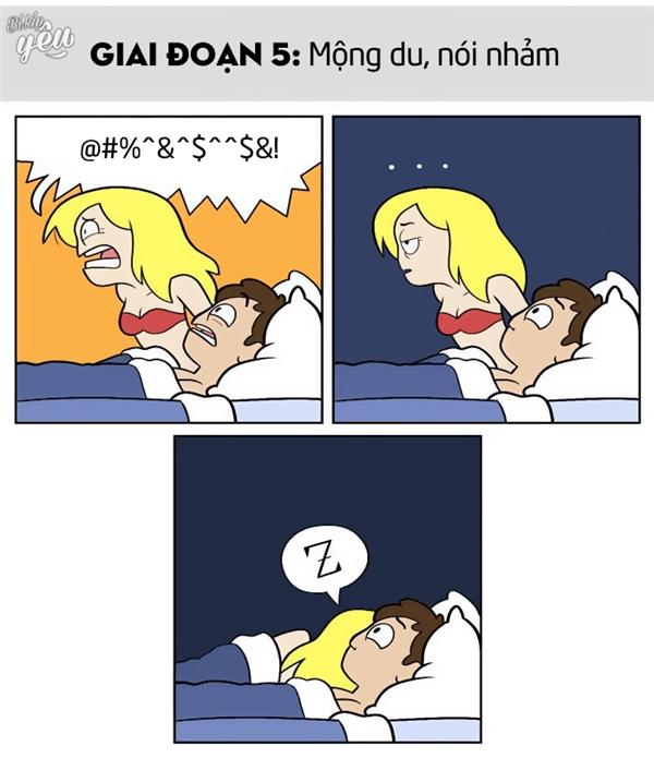 Bộ tranh: Dở khóc dở cười khi được... ngủ với người yêu