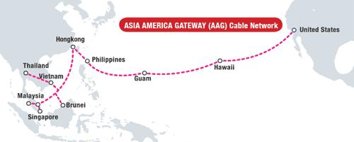 Tuyến cáp AAG thường xuyên gặp sự cố khiến internet Việt Nam đi quốc tế bịảnh hưởng nghiêm trọng. (Ảnh: internet)