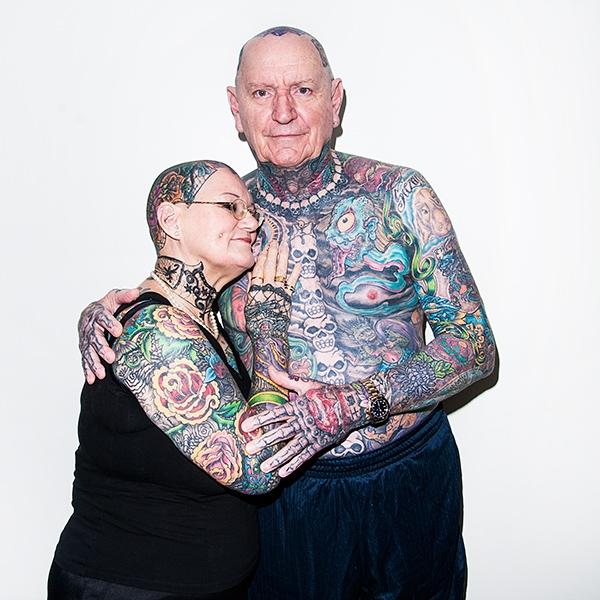 Hiện tổng số hình xăm của họ đã chiếm hơn 90% cơ thể.