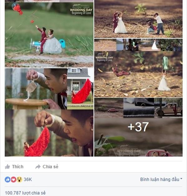 Bộ ảnh thu hút hơn 100.000 lượt share. (Ảnh: Chụp màn hình)