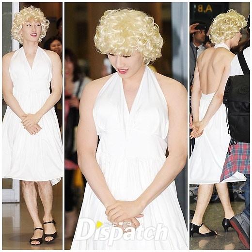 """Eunhyuk khiến dân tình hết hồn khi hóa thân thành nữ minh tinh """"cơ bắp"""" cuồn cuộn."""