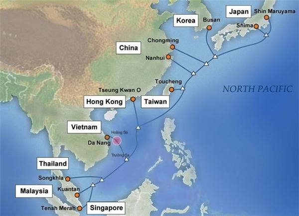 Nhánh cáp trạm cập bờ Đà Nẵng của tuyến cáp APG đã bị sự cố ngày 7/1. (Ảnh: internet)