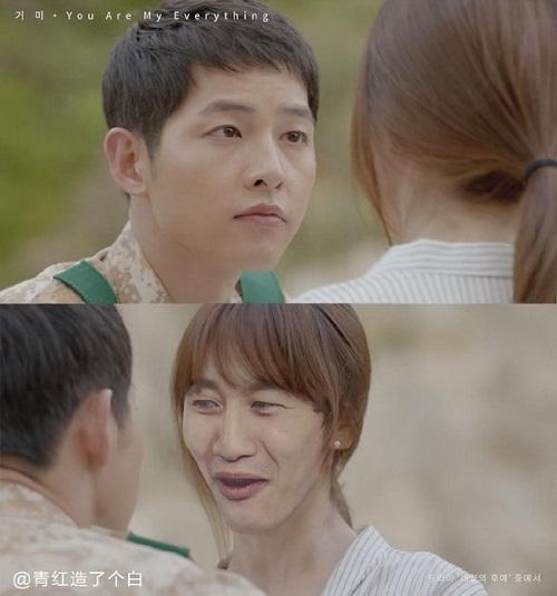 Chuyện tình cảm ngọt ngào của đại úy Yoo Shi Jin và cô bác sĩ Kang Mo Yeon trong bộ phim gây sốt châu Á hồi đầu năm 2016 đãtrở thành đề tài chế ảnh vui nhộn.