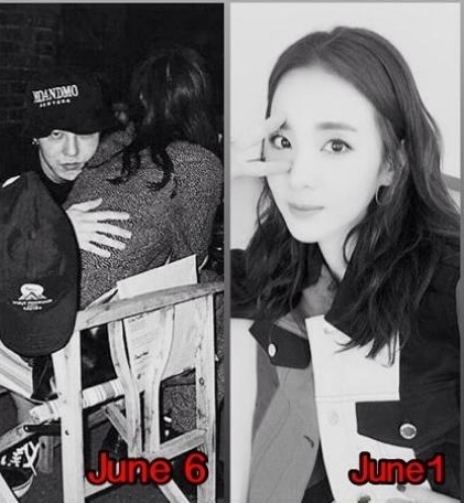 Đỉnh điểm, khoảng thời gian tài khoản Instagram cá nhân của G.D bị hack, hình ảnh thân mật của anh bên một cô gái bị lộ. Với vóc dáng và kiểu tóc này, fan khẳng định người đang được G.D ôm vào lòng chính là Dara của 2NE1.