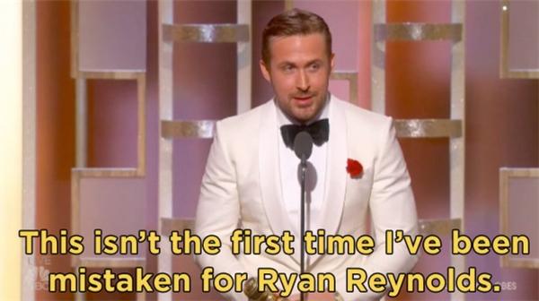 """Ryan Gosling: """"Đây không phải lần đầu tôi bị nhầm với Ryan Reynolds""""."""
