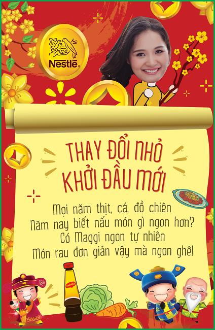 Đối với Hoa hậu Hương Giang, một bữa ăn thanh đạm cùng rau và nước chấm Maggi là đủ cho một bữa ăn ngày Tết ngon lành. - Tin sao Viet - Tin tuc sao Viet - Scandal sao Viet - Tin tuc cua Sao - Tin cua Sao