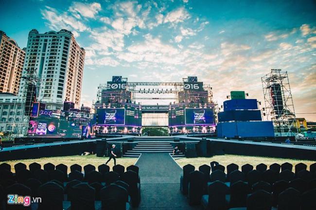 Sân khấu Zing Music Awards 2016 trước giờ G. Ảnh:Hải An. - Tin sao Viet - Tin tuc sao Viet - Scandal sao Viet - Tin tuc cua Sao - Tin cua Sao