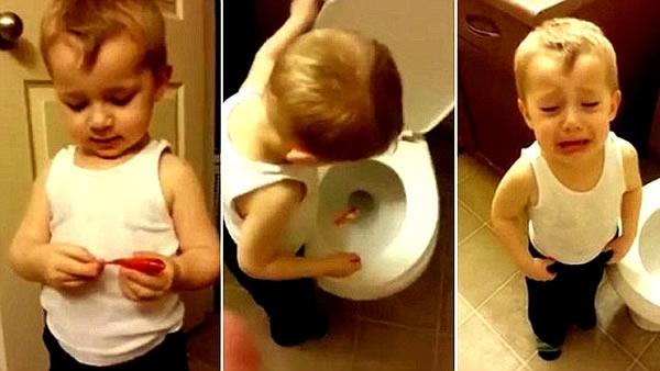 Chia tay người bạn nhỏ khiến cậu bé nức nở bật khóc.